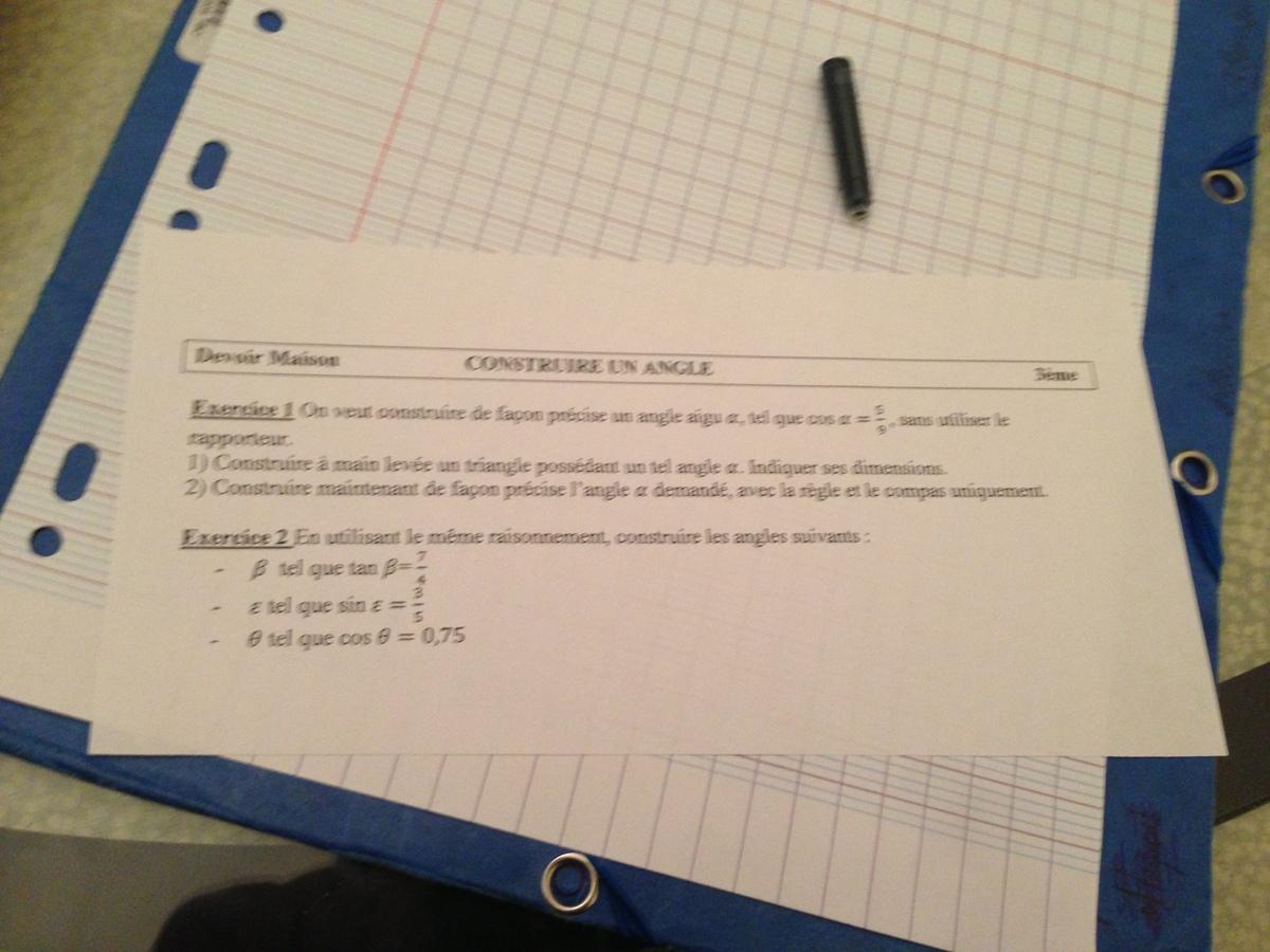 devoir maison de math 3eme