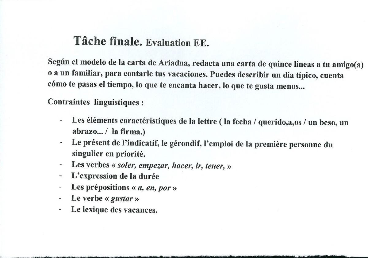 texte en espagnol niveau seconde
